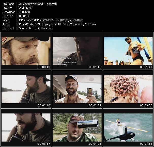 Zac Brown Band video screenshot