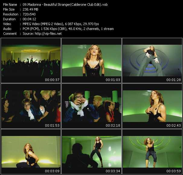 video Beautiful Stranger (Calderone Club Edit) screen