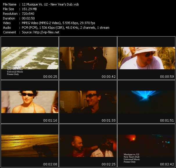 Musique Vs. U2 video screenshot