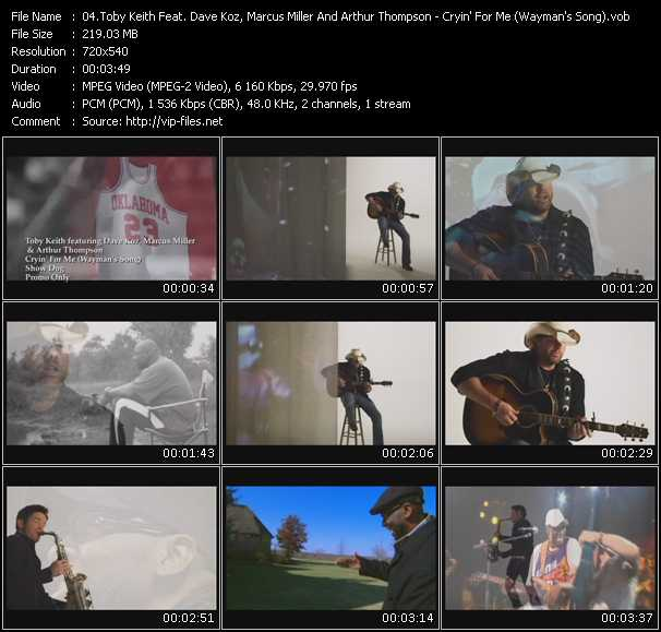 Toby Keith Feat. Dave Koz, Marcus Miller And Arthur Thompson video screenshot