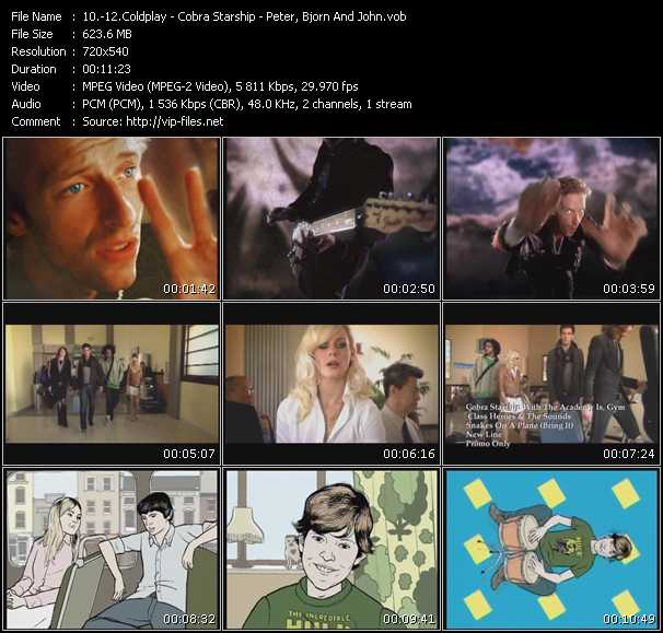 Coldplay - Cobra Starship With The Academy Is, Gym Class Heroes And The Sounds - Peter Bjorn And John video screenshot