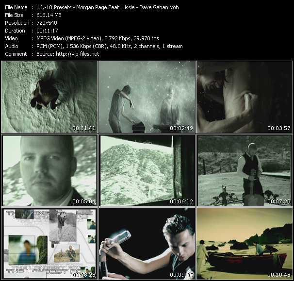 Presets - Morgan Page Feat. Lissie - Dave Gahan video screenshot