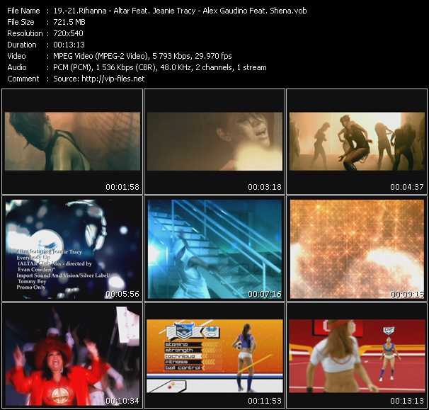 Rihanna - Altar Feat. Jeanie Tracy - Alex Gaudino Feat. Shena video screenshot