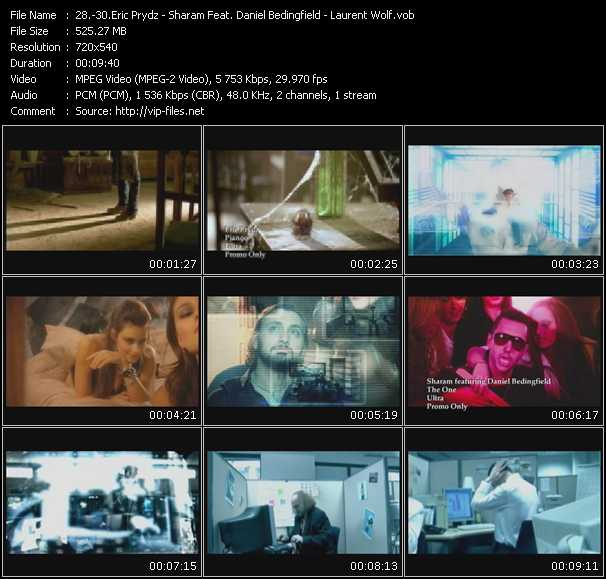 Eric Prydz - Sharam Feat. Daniel Bedingfield - Laurent Wolf video screenshot