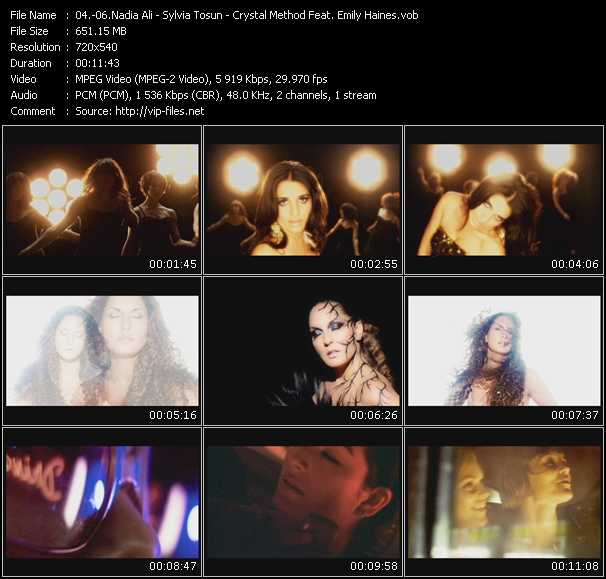 Nadia Ali - Sylvia Tosun - Crystal Method Feat. Emily Haines video screenshot