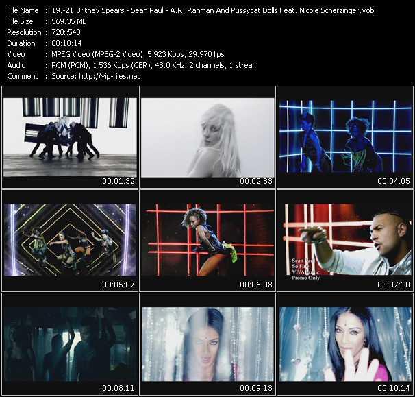 Britney Spears - Sean Paul - A.R. Rahman And Pussycat Dolls Feat. Nicole Scherzinger video screenshot