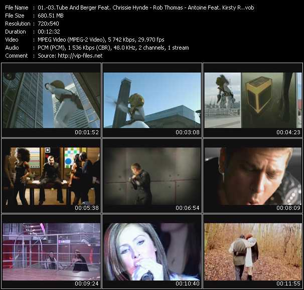 Tube And Berger Feat. Chrissie Hynde - Rob Thomas - Antoine Feat. Kirsty R. video screenshot