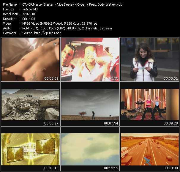 Master Blaster - Alice Deejay - Cyber X Feat. Jody Watley video screenshot