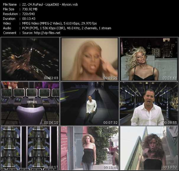 RuPaul - Liquid 360 - Alyson video screenshot