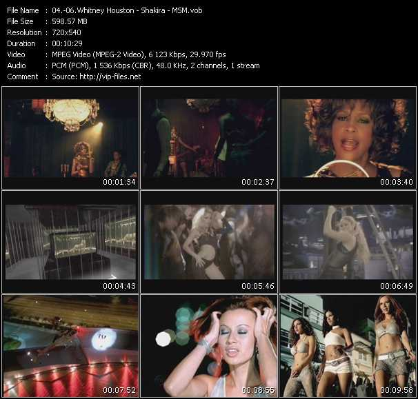 Whitney Houston - Shakira - Msm (Miami Sound Machine) video screenshot