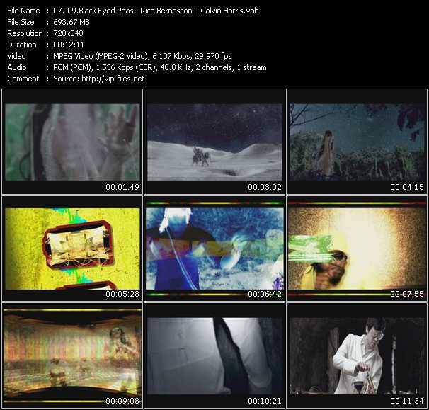 Black Eyed Peas - Rico Bernasconi - Calvin Harris video screenshot