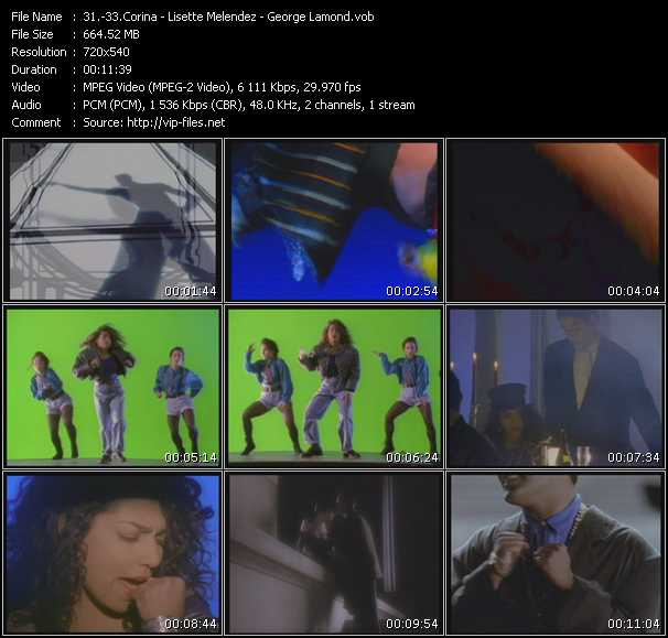 Corina - Lisette Melendez - George Lamond video screenshot