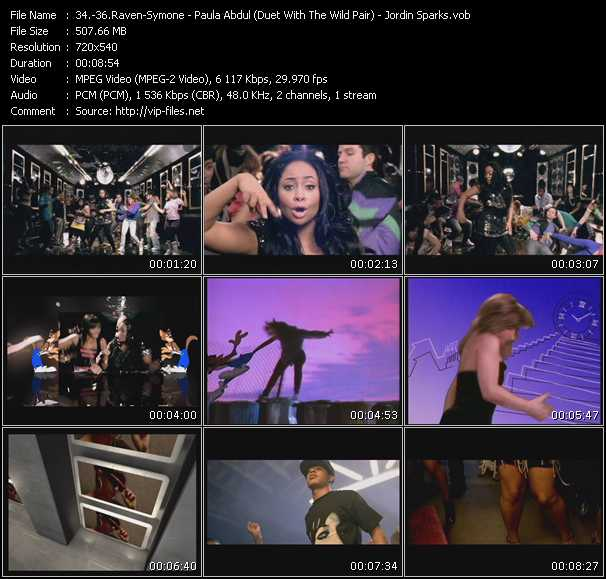 Raven-Symone - Paula Abdul (Duet With The Wild Pair) - Jordin Sparks video screenshot