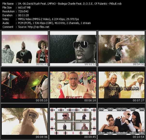 David Rush Feat. Lmfao, Kevin Rudolf And Pitbull - Rod Carrillo Presents Bodega Charlie Feat. D.O.S.E. Of Fulanito - Pitbull video screenshot