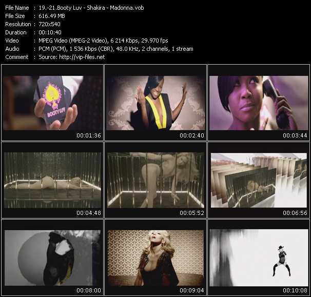 Booty Luv - Shakira - Madonna video screenshot