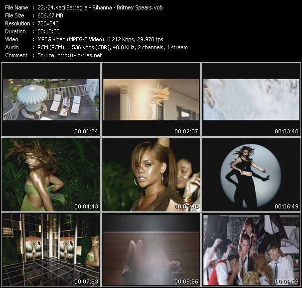 Kaci Battaglia - Rihanna - Britney Spears video screenshot
