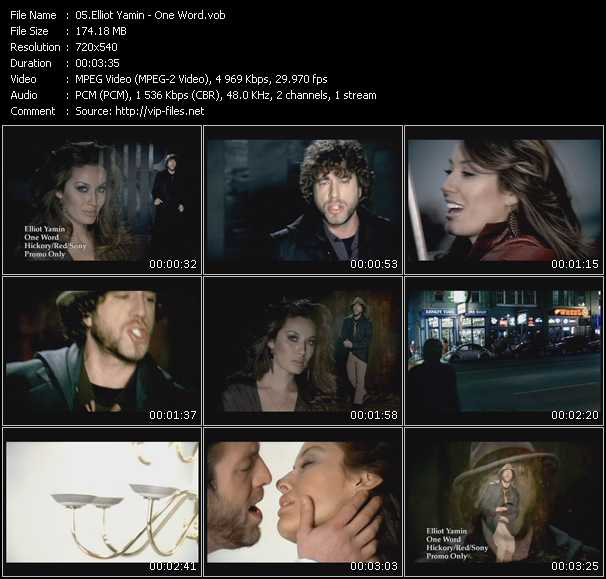 Elliott Yamin video screenshot