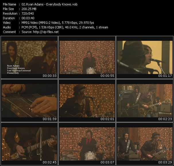 Ryan Adams video screenshot