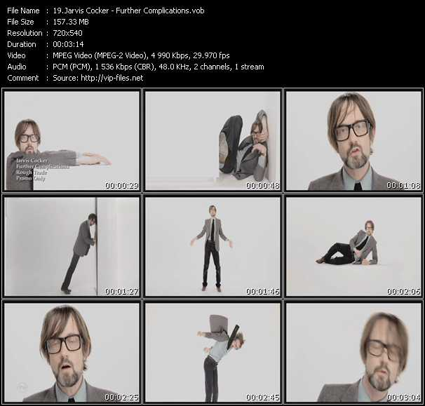 Jarvis Cocker video screenshot
