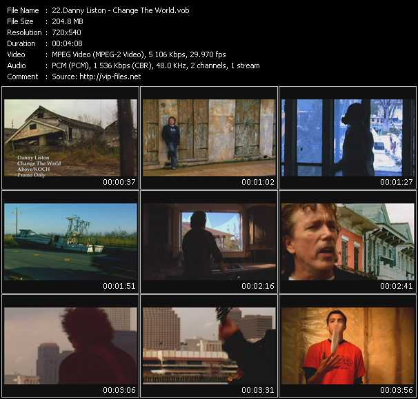 video Change The World screen