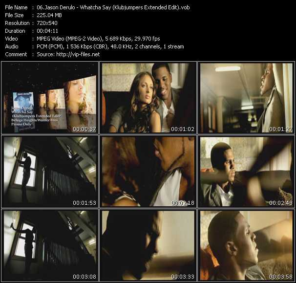 video Whatcha Say (Klubjumpers Extended Edit) screen