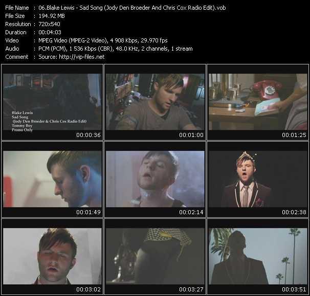 video Sad Song (Jody Den Broeder And Chris Cox Radio Edit) screen