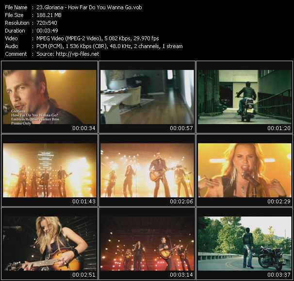 Gloriana video screenshot