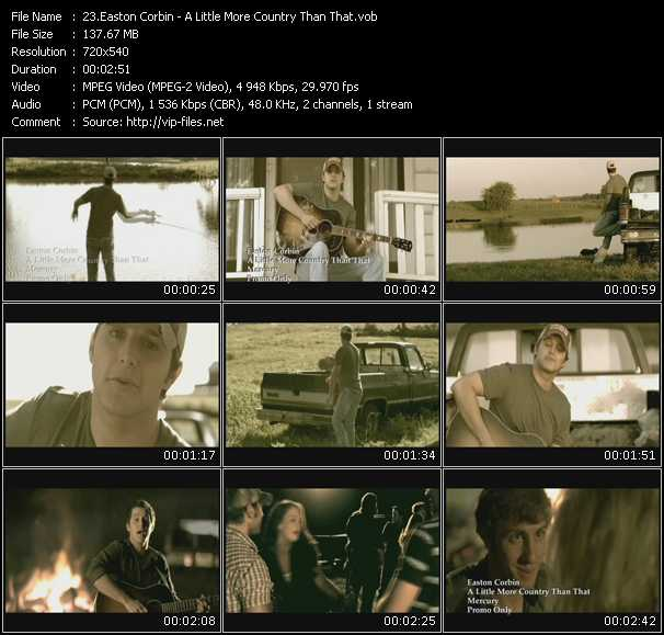 Easton Corbin video screenshot