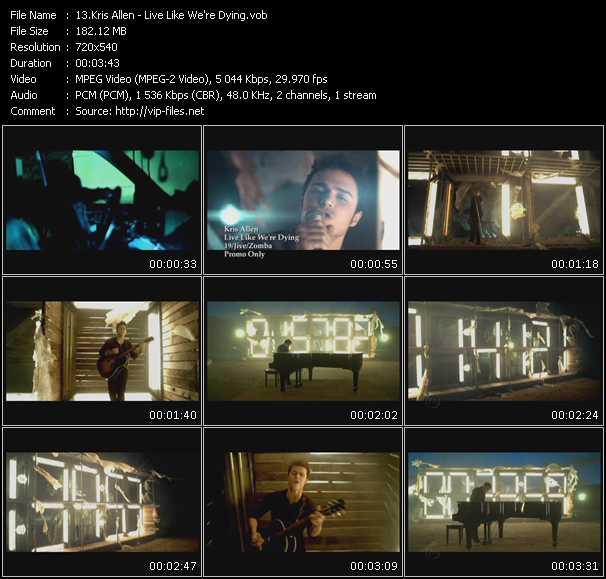 Kris Allen video screenshot