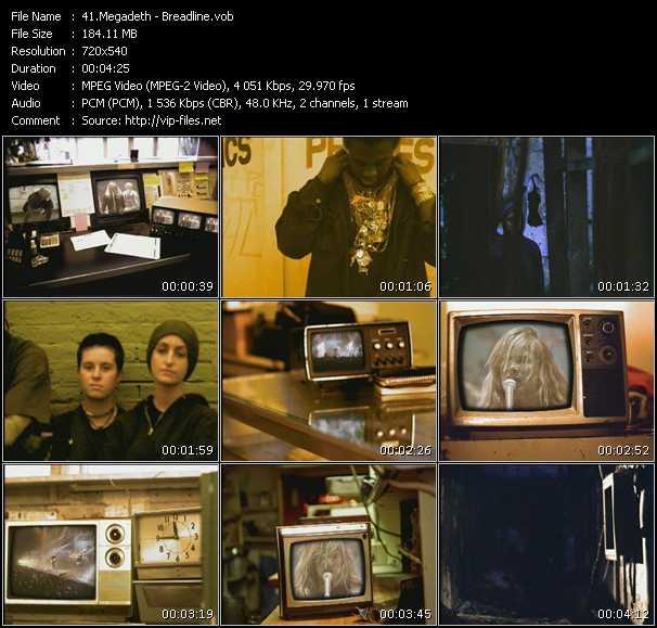 Megadeth video screenshot