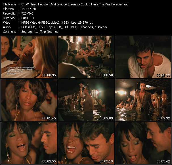 Whitney Houston And Enrique Iglesias video screenshot