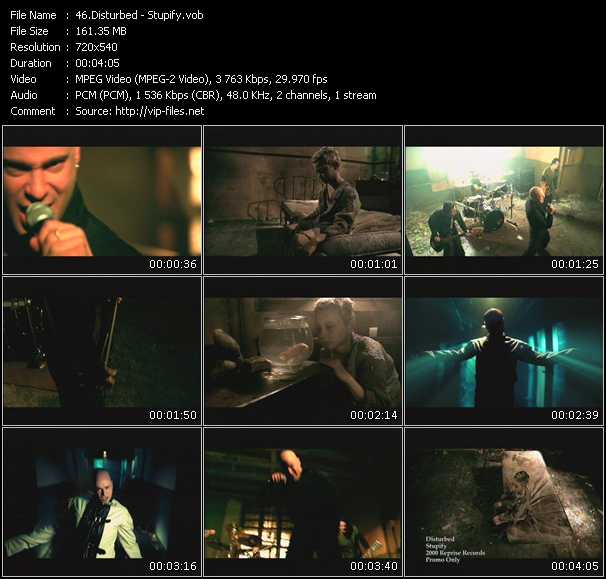 Disturbed video screenshot