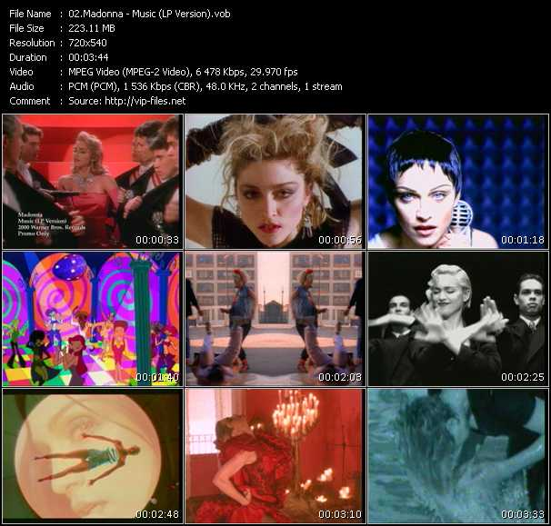 video Music (LP Version) screen