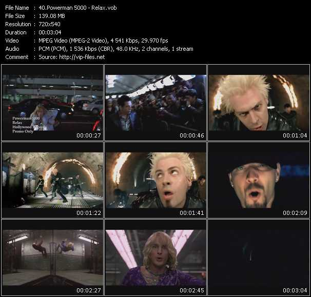 Powerman 5000 video screenshot
