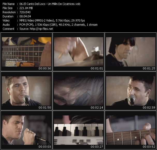 El Canto Del Loco video screenshot
