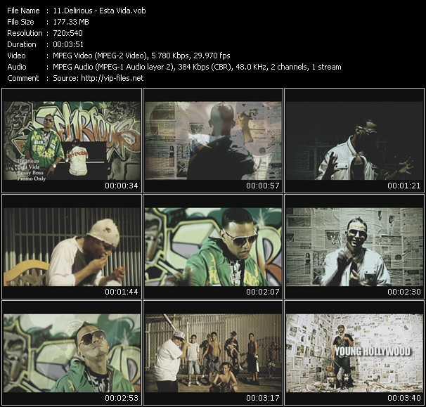 Delirious video screenshot