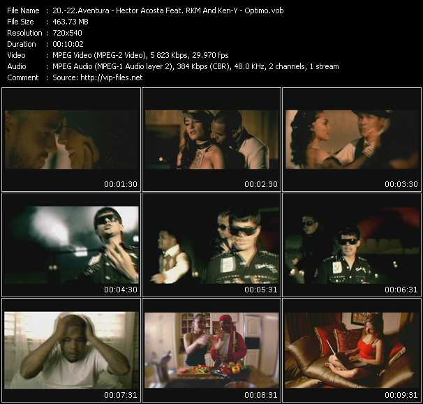 Aventura - Hector Acosta Feat. Rakim And Ken-Y - Optimo video screenshot