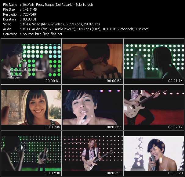 Vallin Feat. Raquel Del Rosario video screenshot