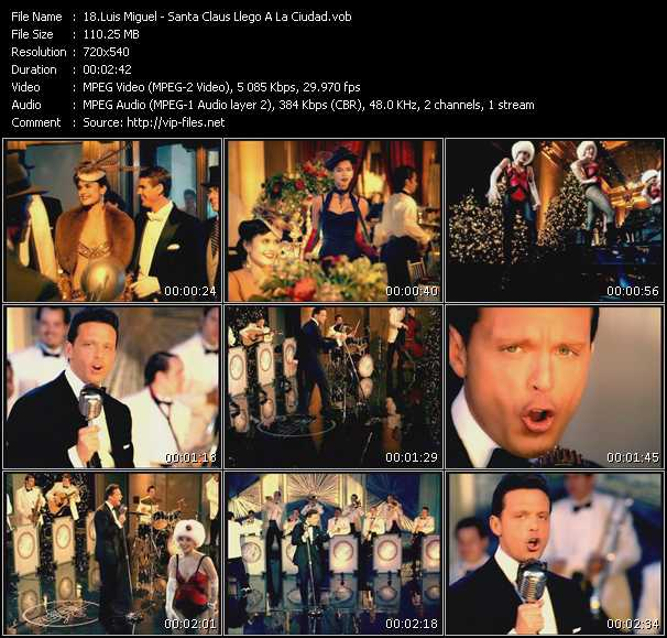 Luis Miguel video screenshot