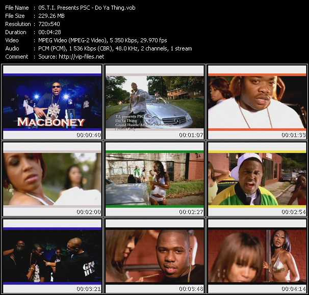 T.I. Presents PSC video screenshot