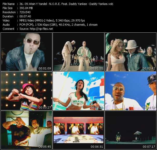 Wisin And Yandel - N.O.R.E. Feat. Daddy Yankee, Nina Sky, Gem Star And Big Mato - Daddy Yankee video screenshot