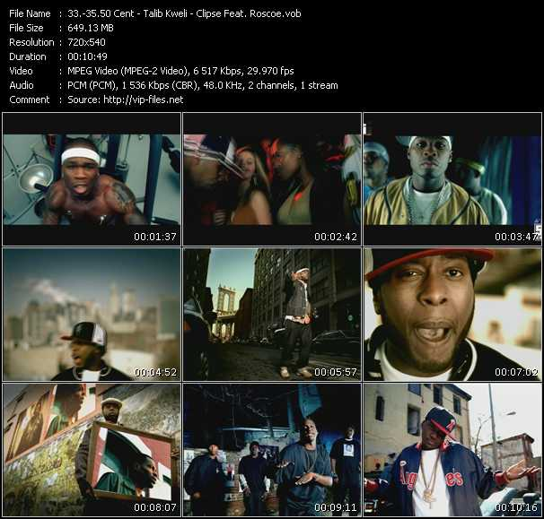 50 Cent - Talib Kweli - Clipse Feat. Roscoe video screenshot