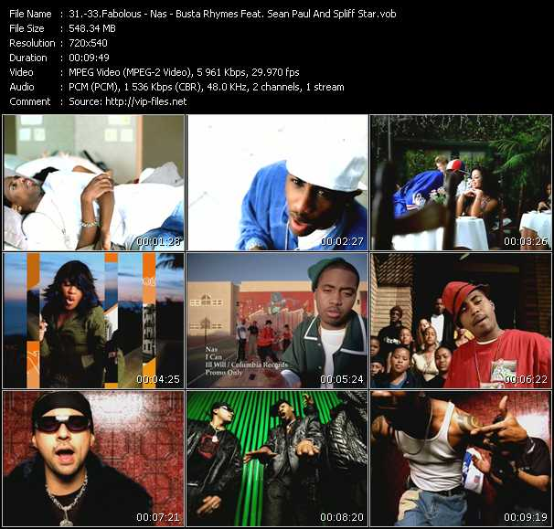 Fabolous - Nas - Busta Rhymes Feat. Sean Paul And Spliff Star video screenshot