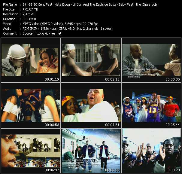 50 Cent Feat. Nate Dogg - Lil' Jon And The East Side Boyz - Baby Feat. The Clipse video screenshot