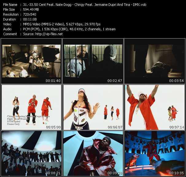 50 Cent Feat. Nate Dogg - Chingy Feat. Jermaine Dupri And Tina - Dmx video screenshot