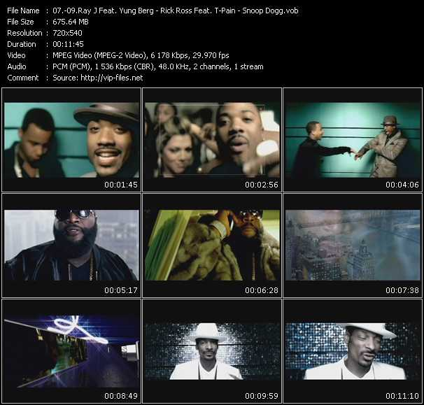 Ray J Feat. Yung Berg - Rick Ross Feat. T-Pain - Snoop Dogg video screenshot