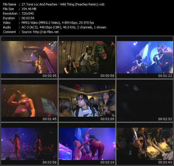video Wild Thing (Peaches Remix) screen
