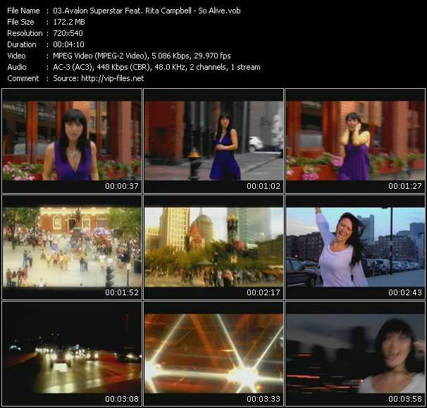 Avalon Superstar Feat. Rita Campbell video screenshot