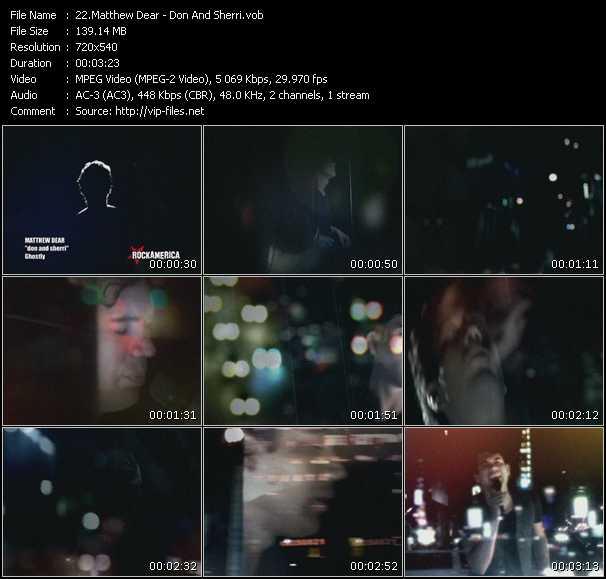 Matthew Dear video screenshot