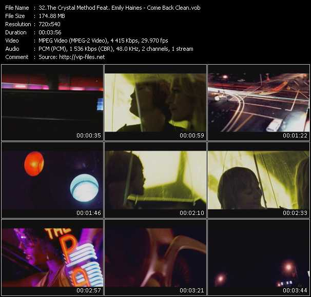 Crystal Method Feat. Emily Haines video screenshot